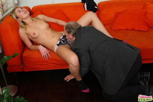 old man young girl blowjob