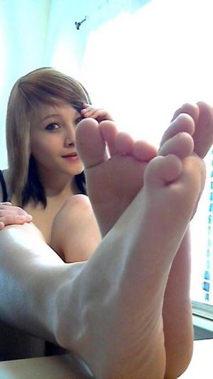 blonde teen footjob